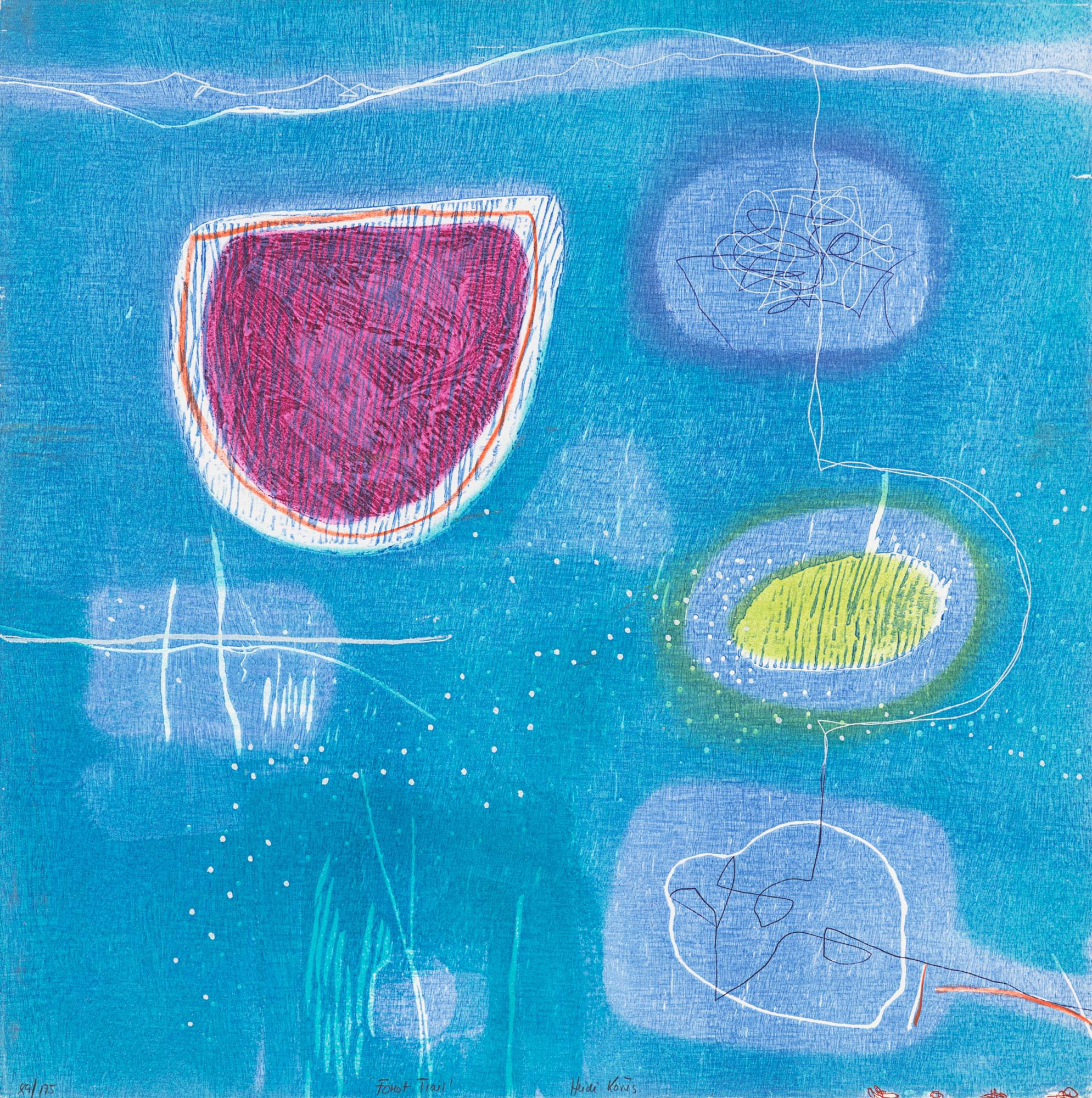 H. Konig, Blue Abstract