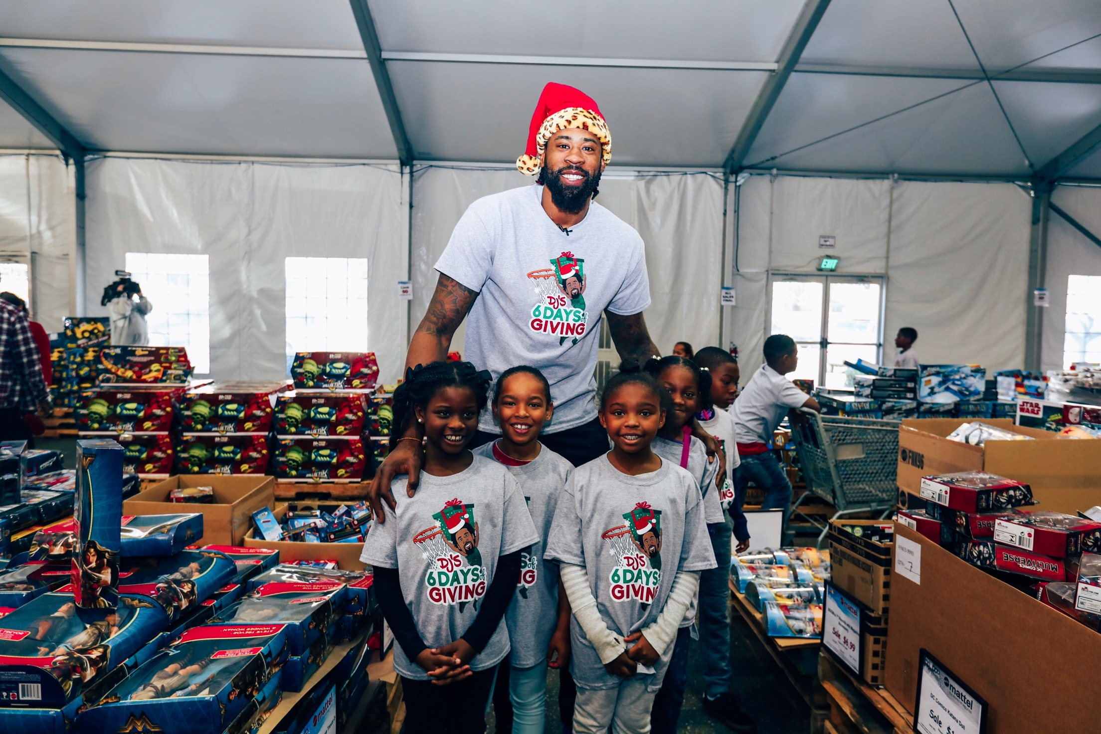 """Day 1 - Shopping spree at MATTEL for 100 kids from the """"Why Can't We Make a Difference Foundation."""