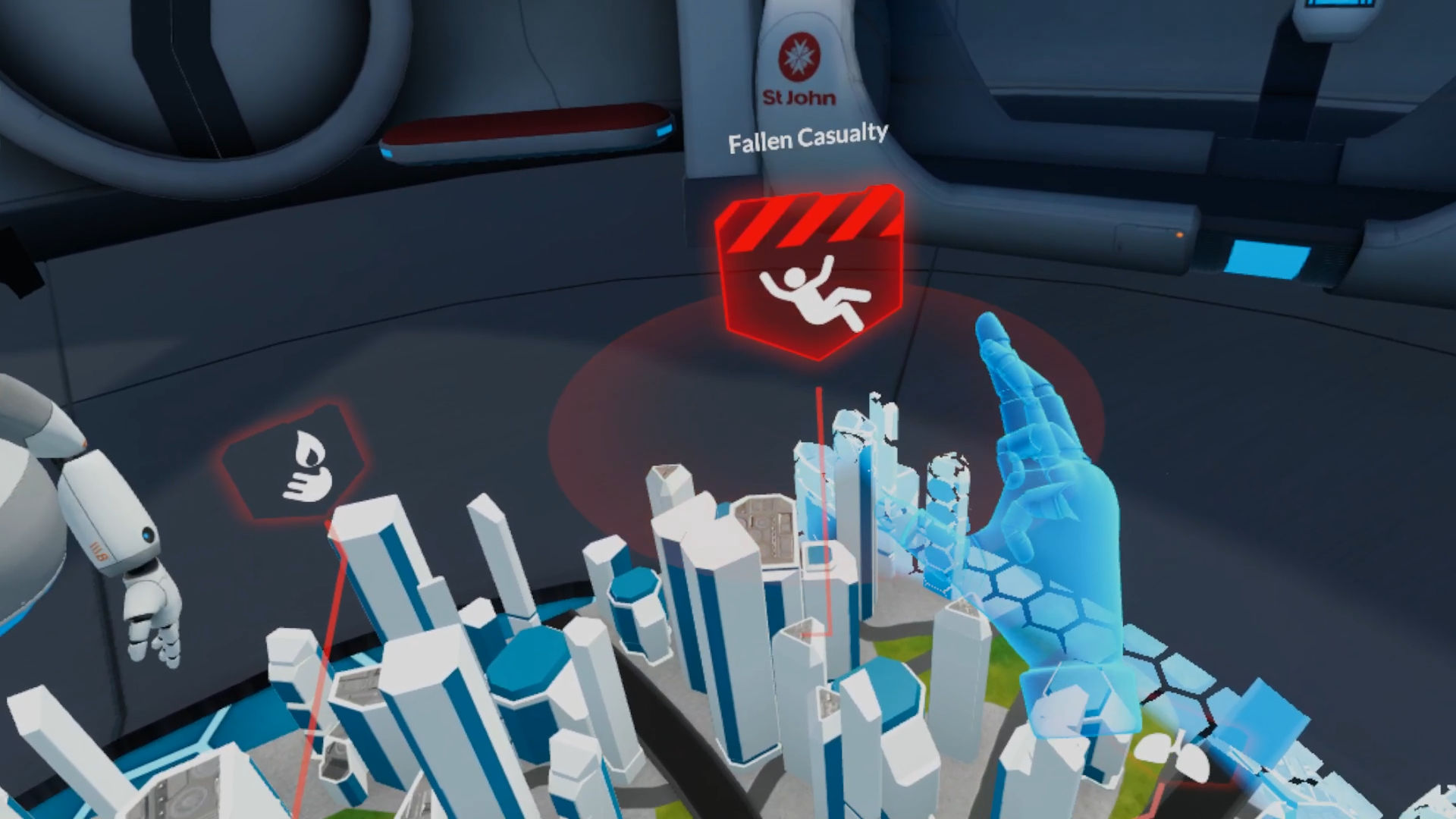 VR first aid skills training - St John Map