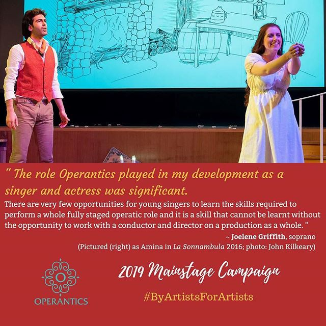 💐 Founding member Joelene Griffith (now living and performing in Wales) on what Operantics offers young artists. . Help us create more opportunities for young Australian artists through our Mainstage Campaign - link in bio ⬆️ . #ByArtistsForArtists #makeculturehappen