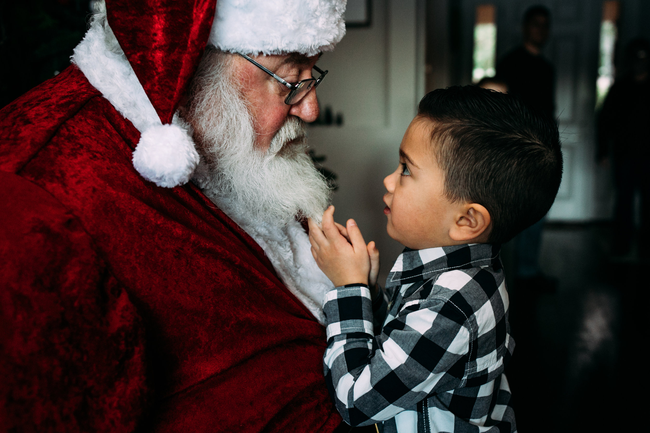 seattle family photographer - santa pictures