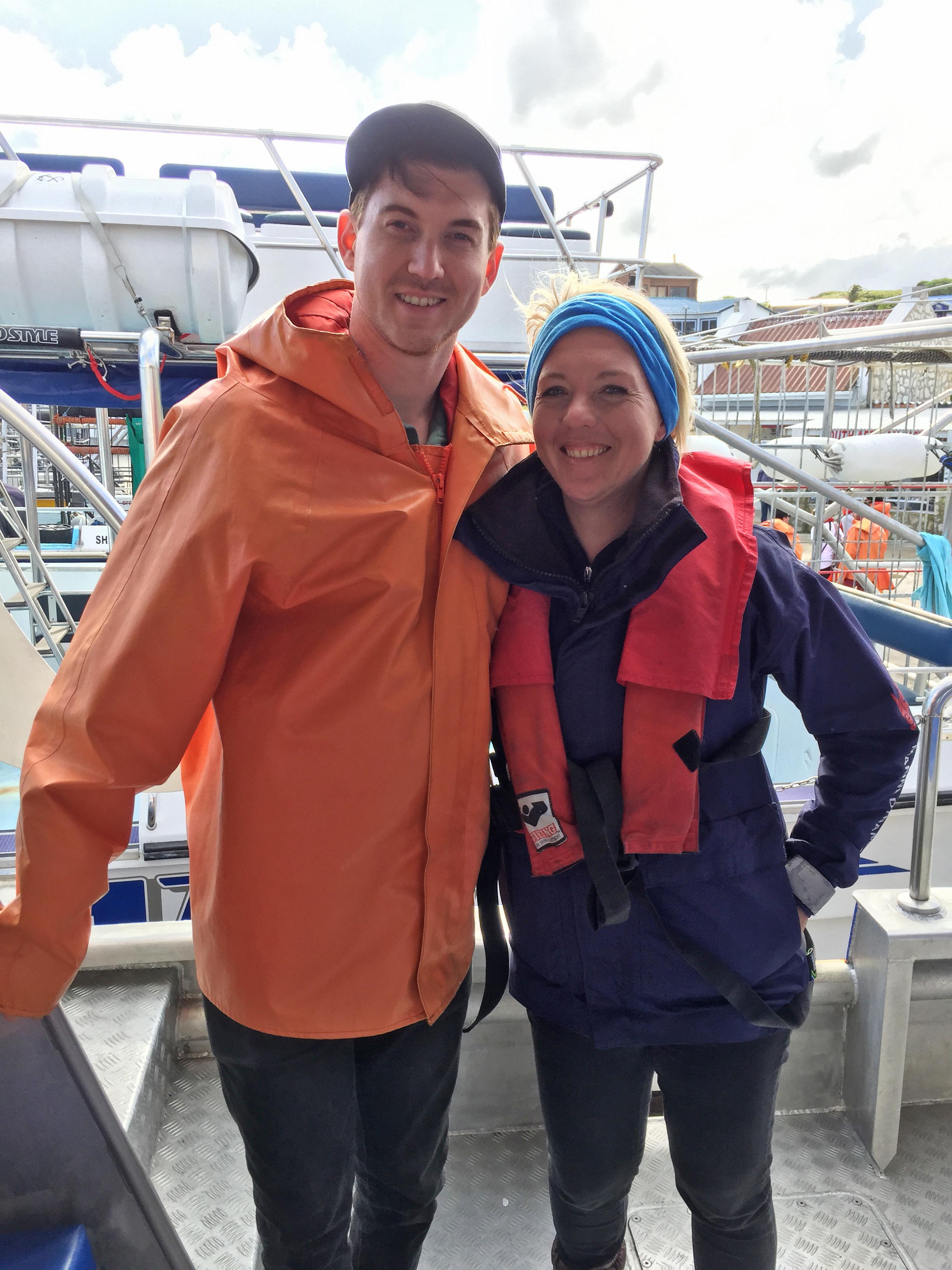 Gretha, our guide aboard Marine Dynamics Cruise