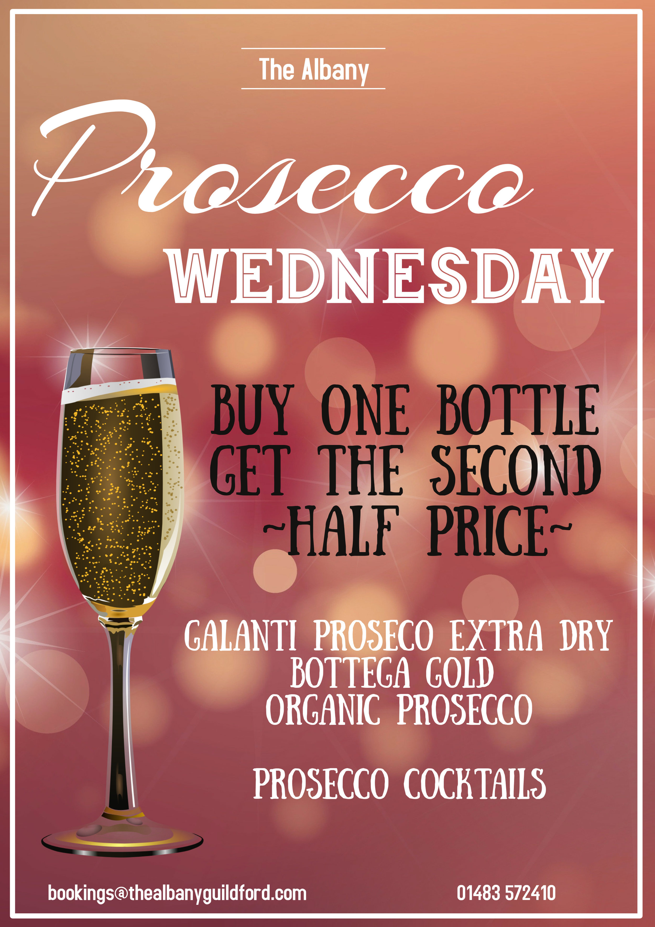 Prosecco O'Clock - Time to drink Prosecco and dance on the table!