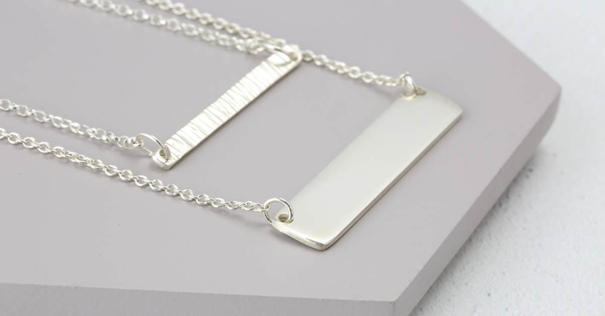 silver bar necklace free course from Jewellers Academy