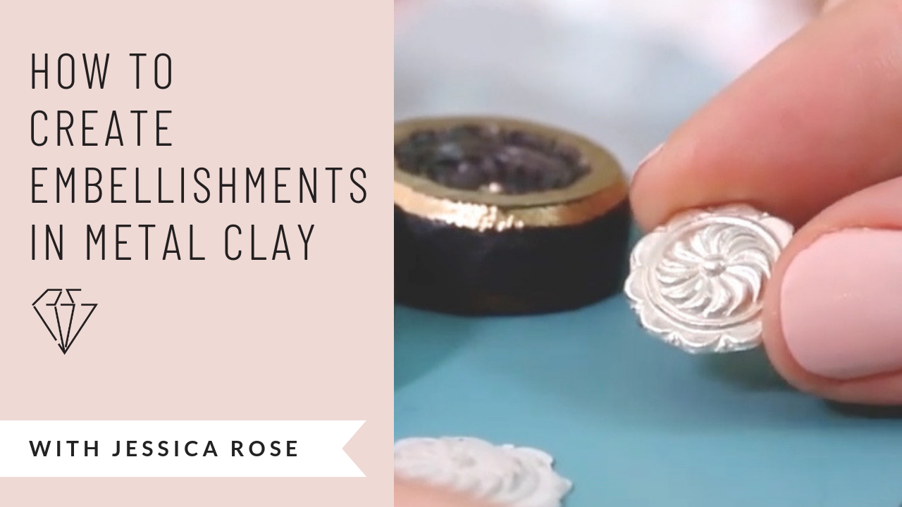 how to create embellishments in metal clay