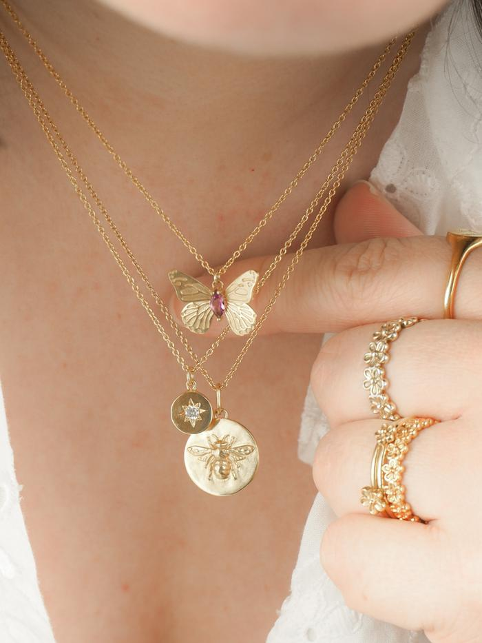 BEE COIN NECKLACE  by Rachel Whitehead