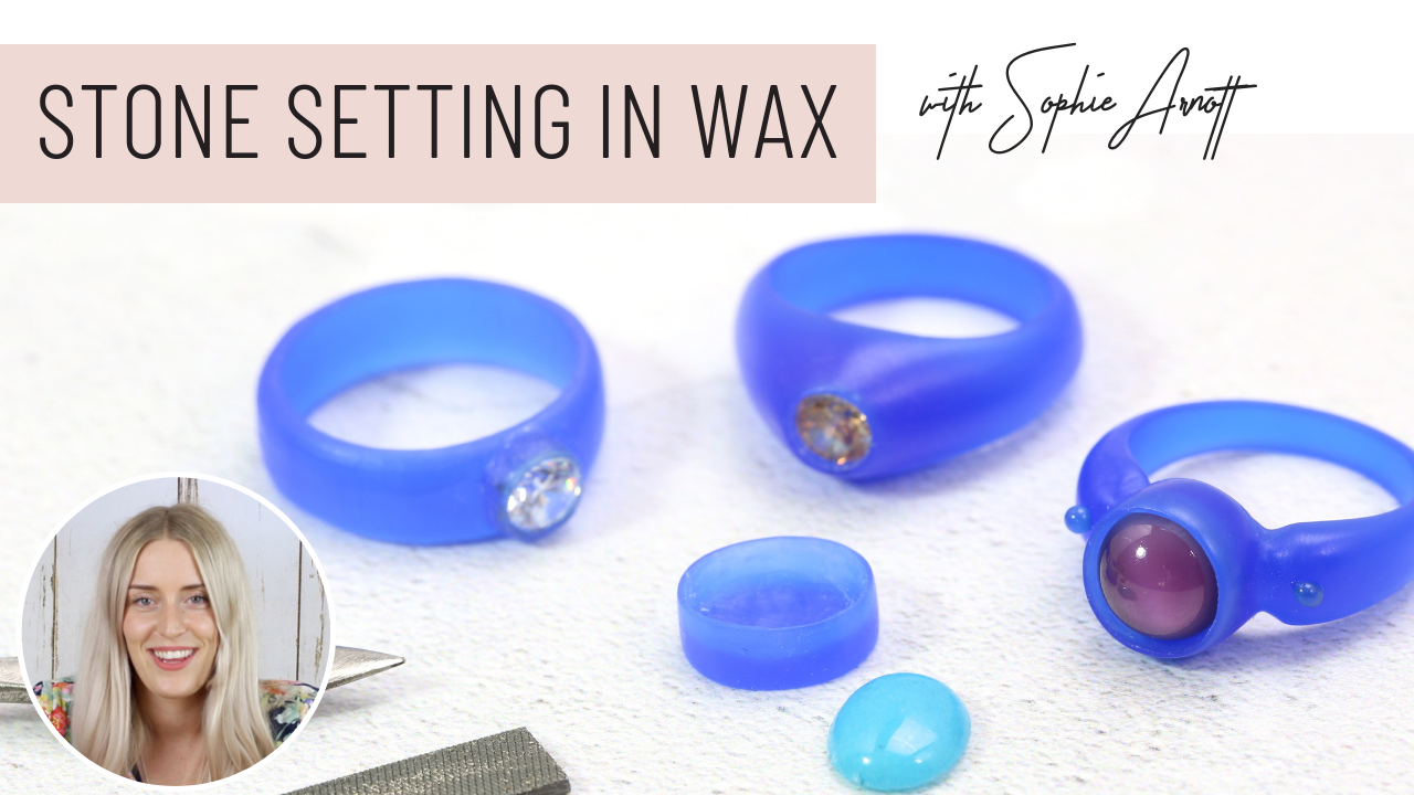 Stone setting in wax course from Jewellers Academy