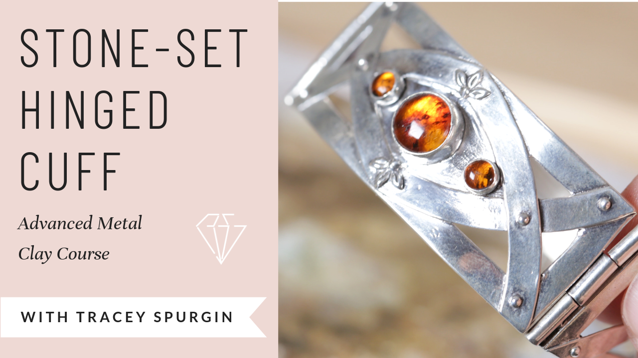 stone set hinged cuff with Tracey Spurgin online course Jewellers Academy
