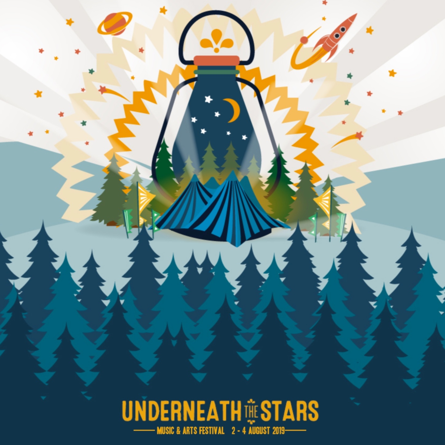 Underneath the Stars Festival Family Ticket - Underneath the Stars Festival is a family-friendly Yorkshire music festival held at Cinderhill Farm Cawthorne in Barnsley on 2nd-4th August 2019. This year the line-up includes, The Proclaimers, Kate Rusby and Billy Bragg, alongside many other wonderful performances from established and emerging talent across the folk, roots, bluegrass, fusion and Americana music worlds. We have a whole host of family friendly activities and entertainment designed with kids in mind and packed full of fun. The ticket includes 2 adults and up to 3 children (aged 17 & under) with camping plot, if required.