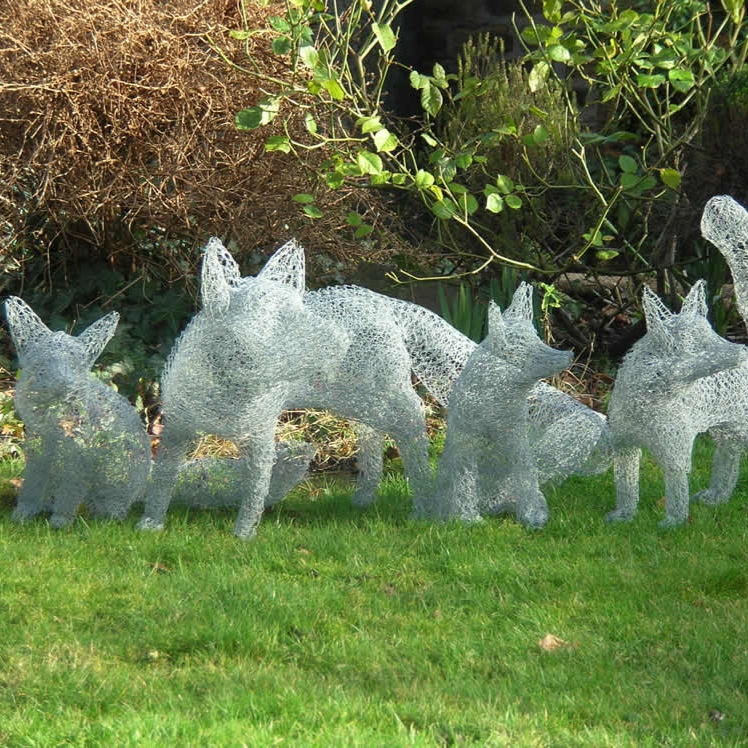 Wire Fox Cub Garden Sculpture by Fenella Noble Design - The wonderful and extremely talented Fenella Noble has kindly donated one of her beautiful wire garden sculptures. Each sculpture is hand made and intricately designed right here in Sheffield.