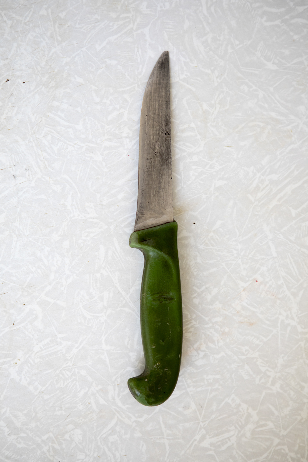 The knife Ilshat used to stab Nadezda with. They argued about money.