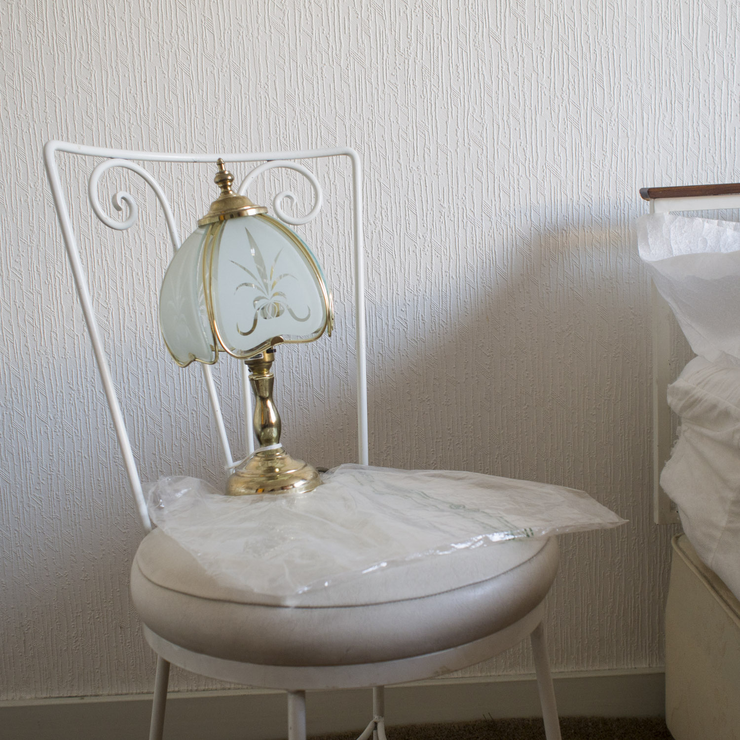 Doris's bedside lamp. Doris is George's sister. She lives in a care home but they lived together all their lives before she had to move due to dementia.