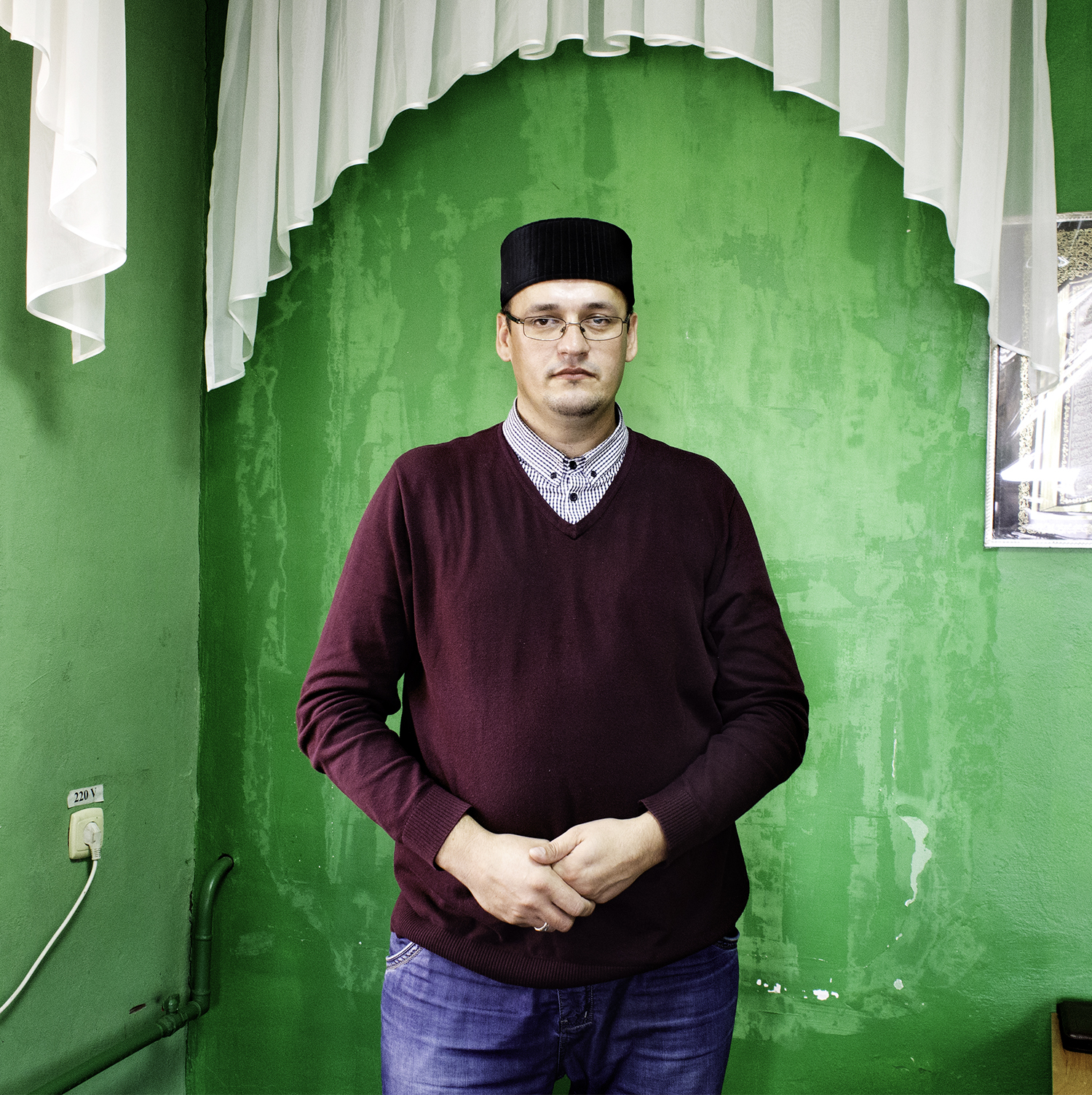 """Sulfat Gabdullin, director at Kazan's first madrasa Muhammadiya: """"The madrasa is the happiest and best place in the world. There is no other. For 1000 years we are a combination of different people. It's in our genes to get on.We have very cold winter, we need a lot of warmth between people. Its our religious duty to stay in dialogue with all."""""""