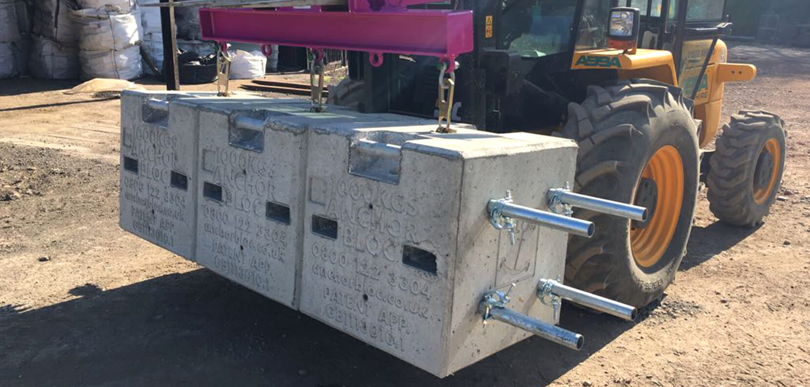The AnchorBloc Modular system allows multiple Blocs to be bolted together securely