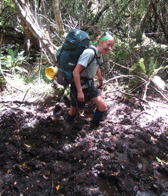 Stewart Island is notorious for it's mud, which can make the going much tougher.