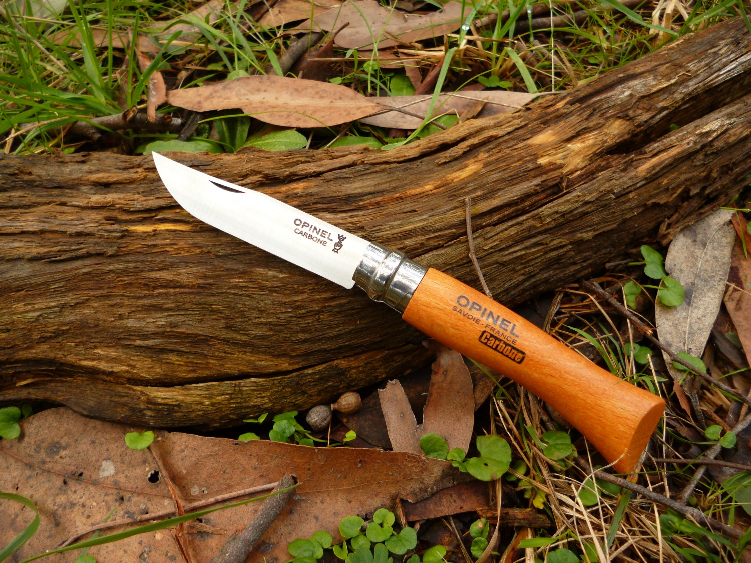 The rounded handle on the Opinel No. 7 is big enough to be comfortable in your hand.