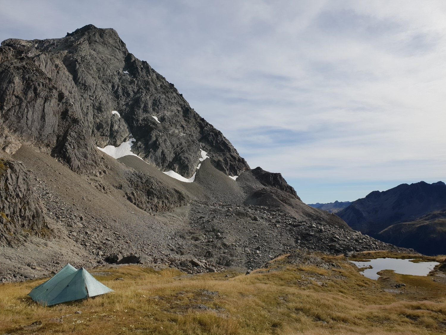 A beautiful spot for WILD camping is JUST below the south face of Mt Travers.