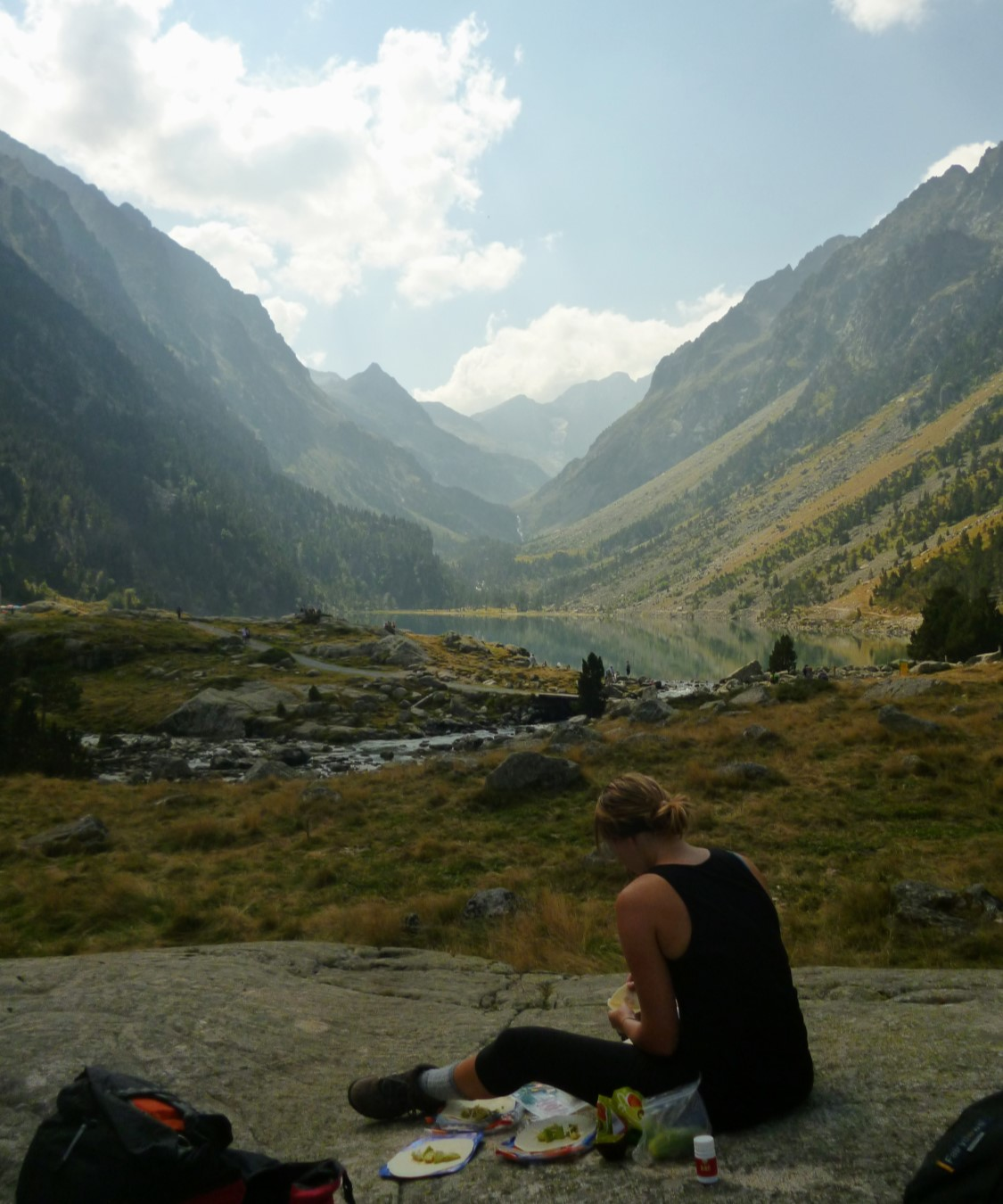 Stopping for lunch in the valley just south of Pont d'Espagne.