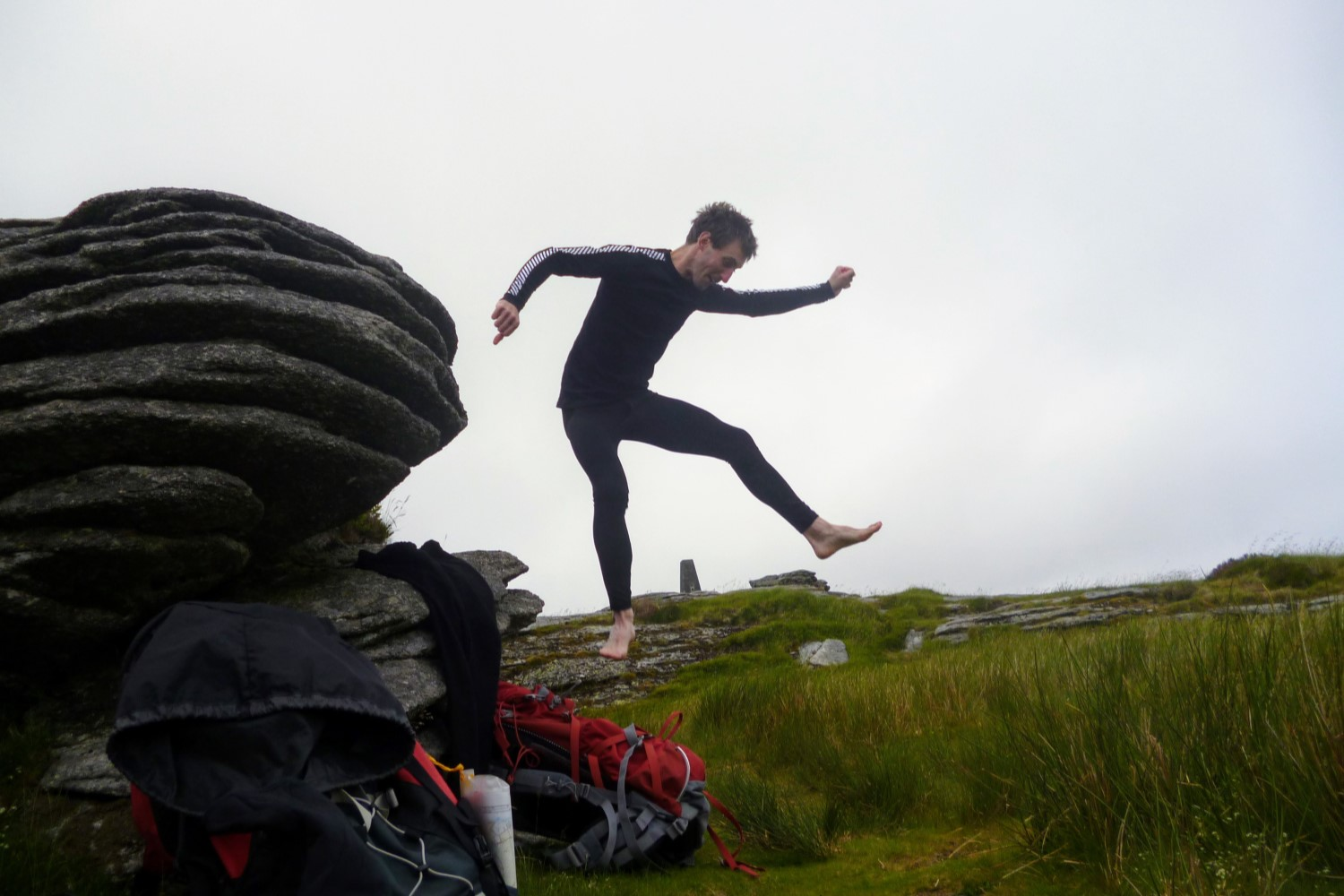 I'll sometimes carry a long sleeve baselayer for sleeping or for additional warmth in really cold conditions.