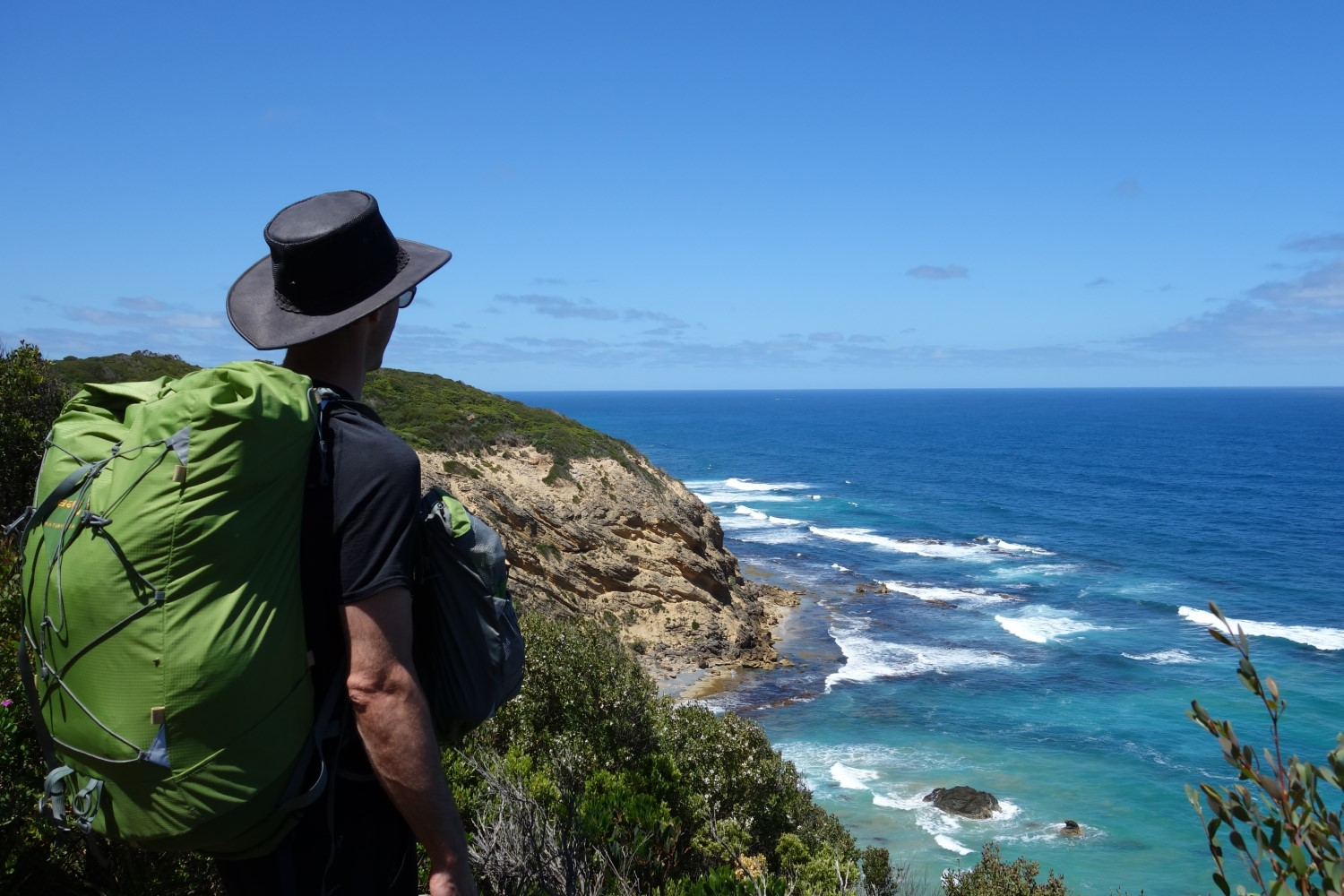 T-shirts are awesome for warm sunny days! Like the weather on this day hiking near Cape Otway, Australia.