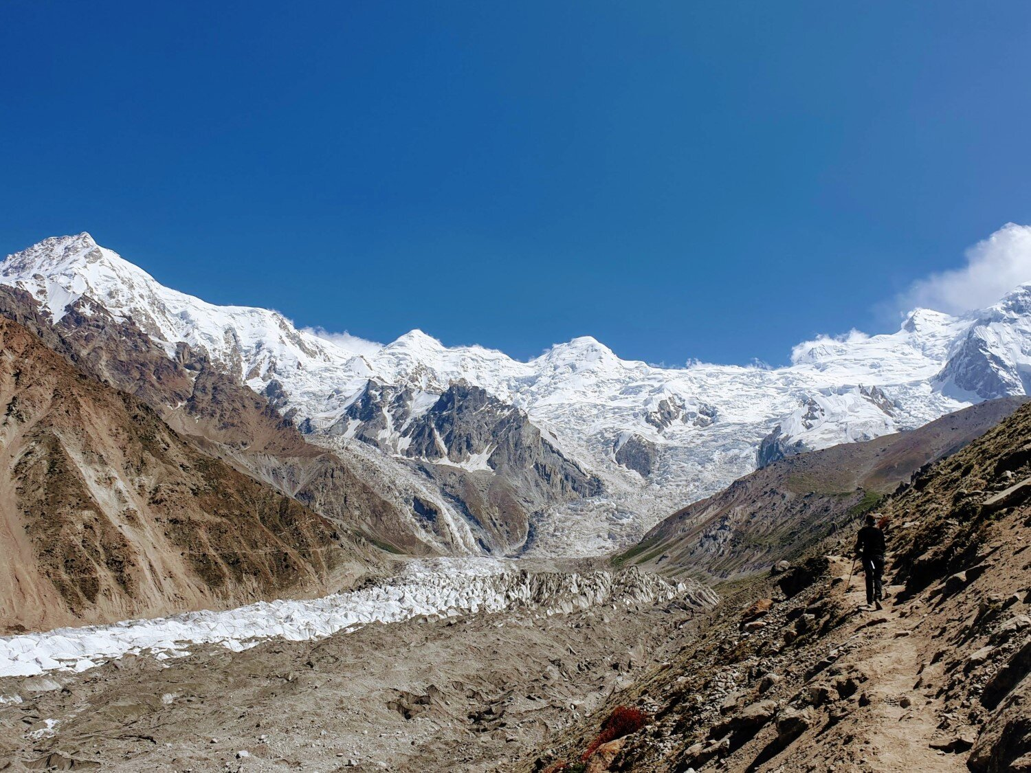 The trail to Nanga Parbat Base Camp follows alongside the Raikot Glacier, offering mind-blowing views the entire way!
