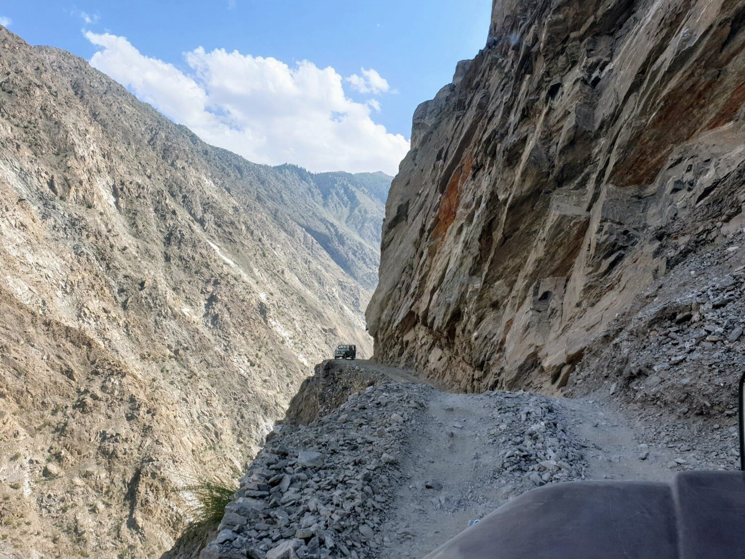 The trip to Fairy Meadows involves a 2 hour jeep ride along some pretty sketchy terrain!