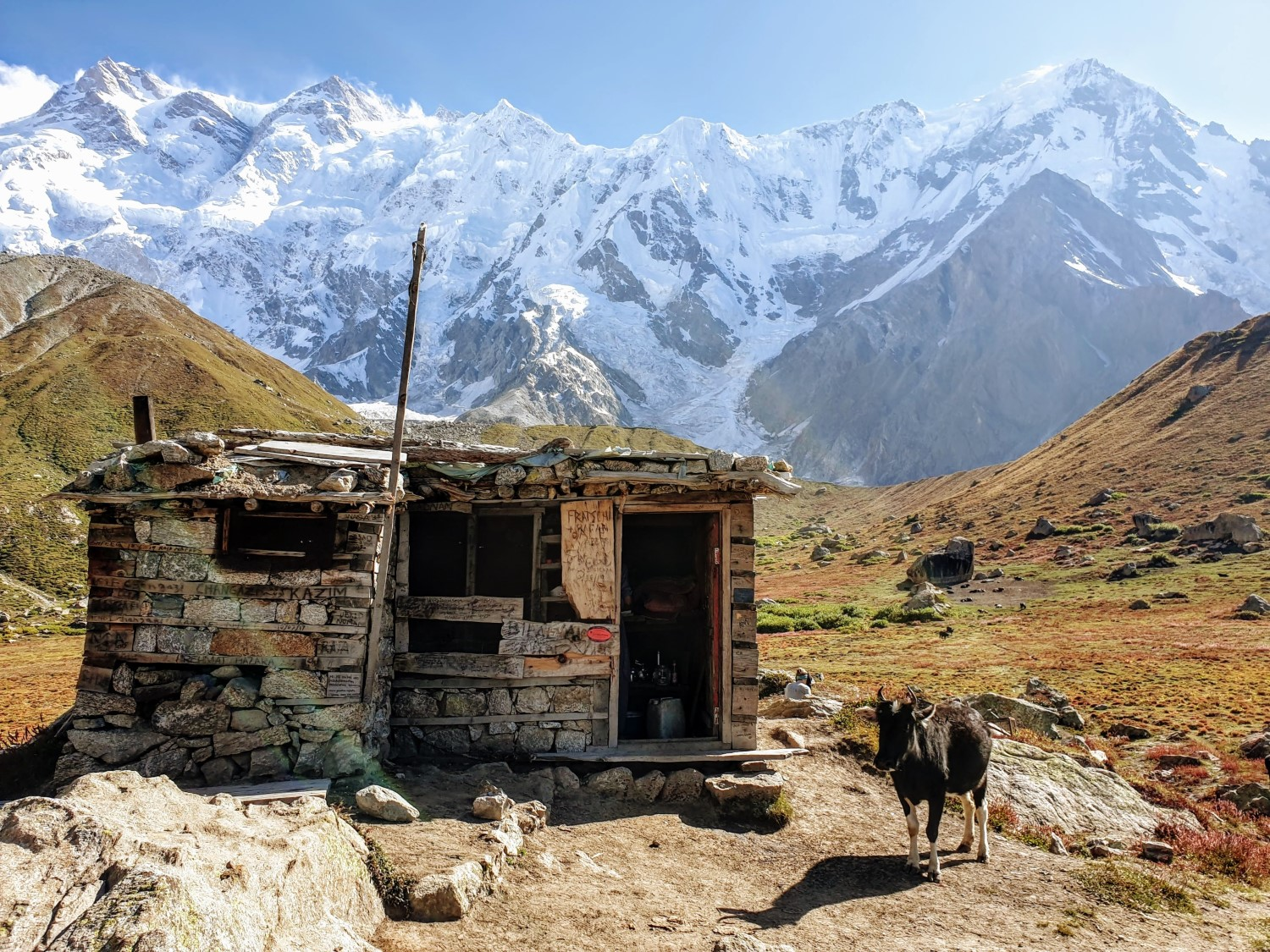 """The exact location of the """"Base Camp"""" seemed to be a bit open to debate, but this """"Nanga Parbat Tuckshop"""" seemed like the ideal final destination for the hike."""