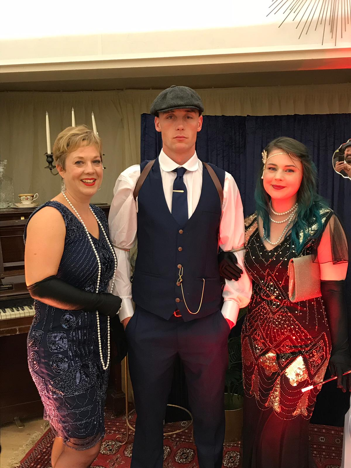 East Markham Peaky Blinders Night was a roaring success with everyone dressed in 1920's attire, a live singer performing post modern jukebox songs and our very own Tommy Shelby. this event was held at east Markham village hall which was transformed by Georgie Muirhead design into a 1920's speakeasy club.  our next peaky's night will be held on Friday 29th march 2019 at ye olde bell, Barney moor, north Nottinghamshire. tickets are available via www.yeoldebell-hotel.co.uk
