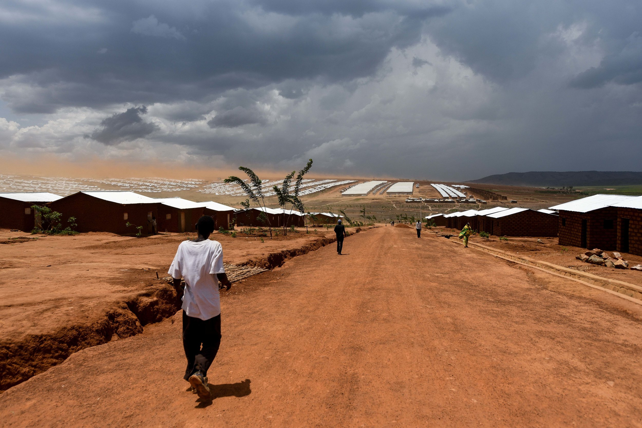 A sprawling overview of the Mahama Refugee Camp in Kirehe District, located in Rwanda's Eastern Province.
