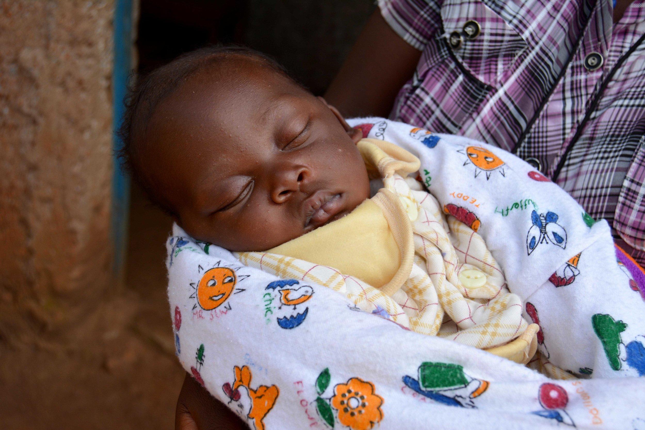 Claudine's healthy baby, Nuwayezu Theogène Aimée (1 month).