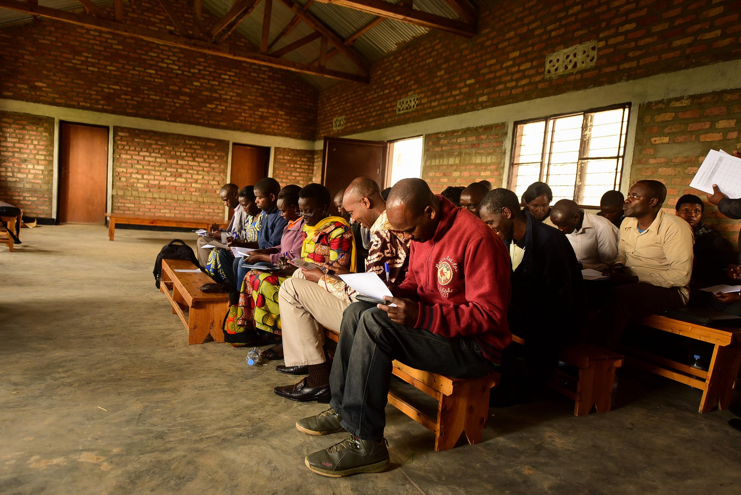 Trained teachers and headmasters at EP Mugombwa Primary School.
