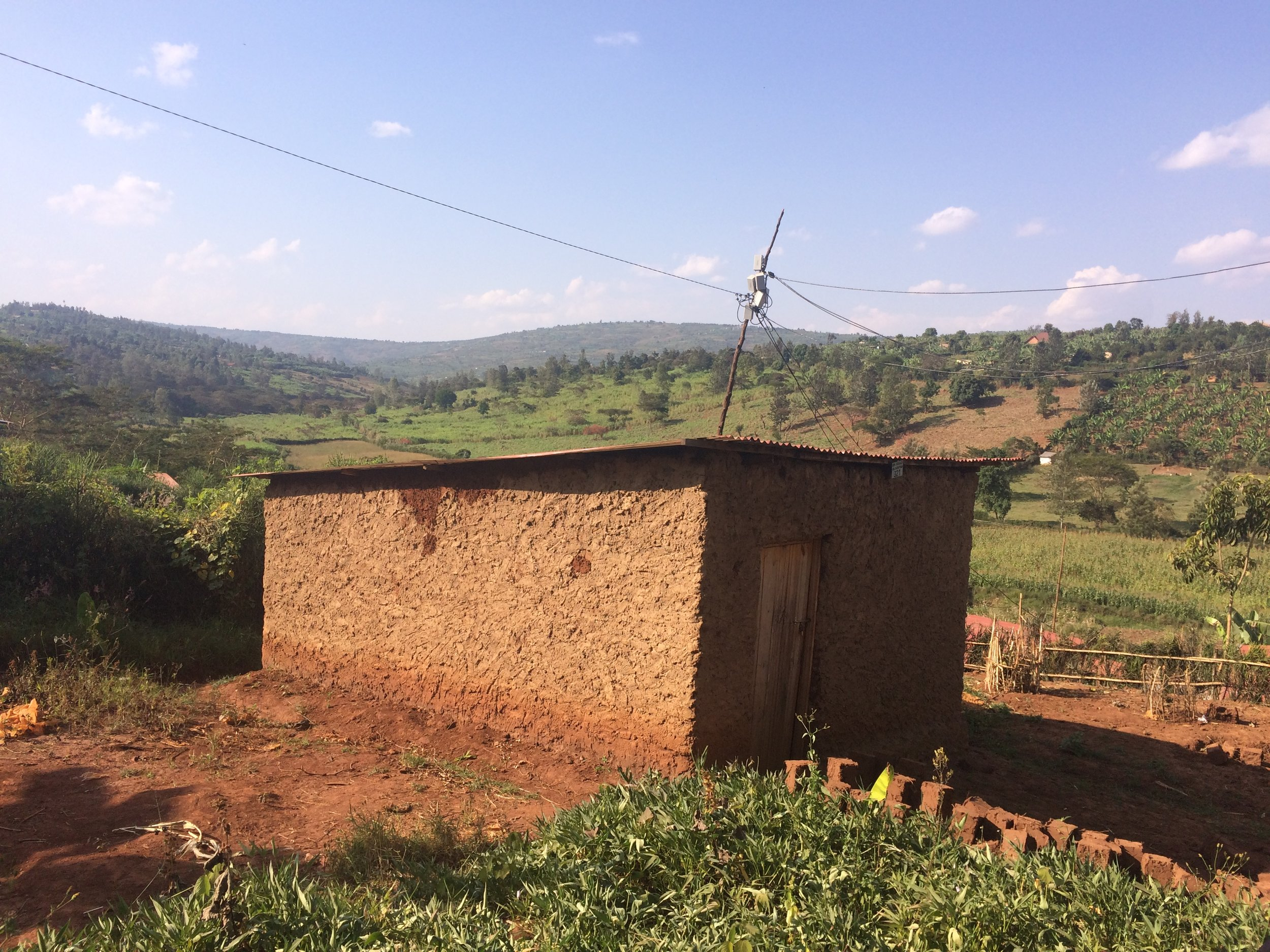 View from a village where I shadowed the health team in an ANC home visit.