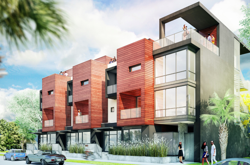 A rendering of Vanguard Lofts, which is almost complete in the Rosemary District.