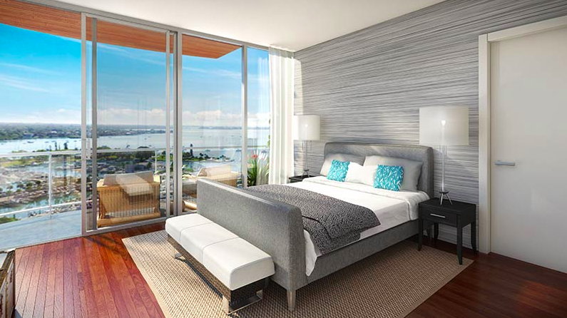 Master bedroom rendering for DeMarcay, which will boast an incredible view.