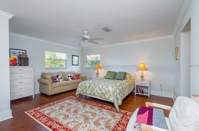 The guest rooms in this home are vast, providing wonderful spaces for visiting friends and family members to really settle in and feel at home.