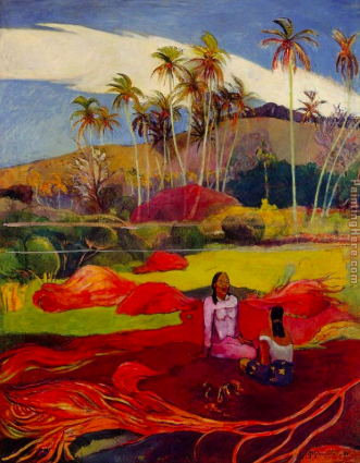 Gauguin's  Tahitian Women Under the Palms