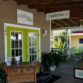 Stop into the Bodhi Tree Café in Towles Court