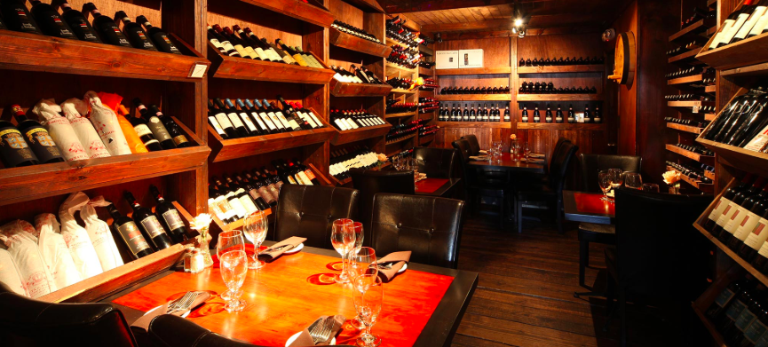 Wine room at Café Gabbiano