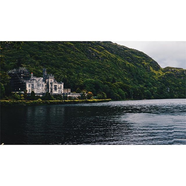 Kylemore abbey. It was a castle once. When the nuns came it became an abbey.