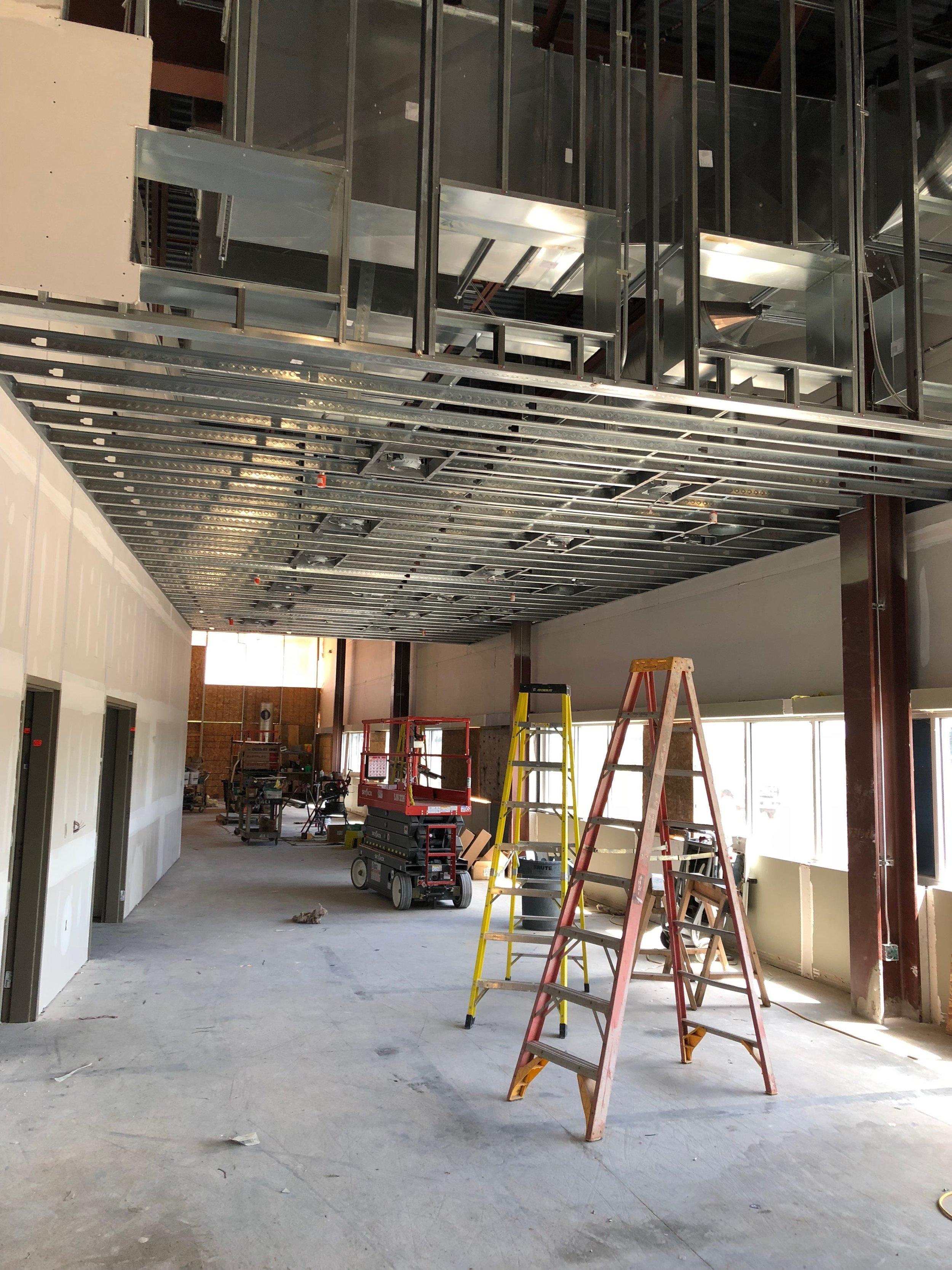 Hallway ceiling & drywall work