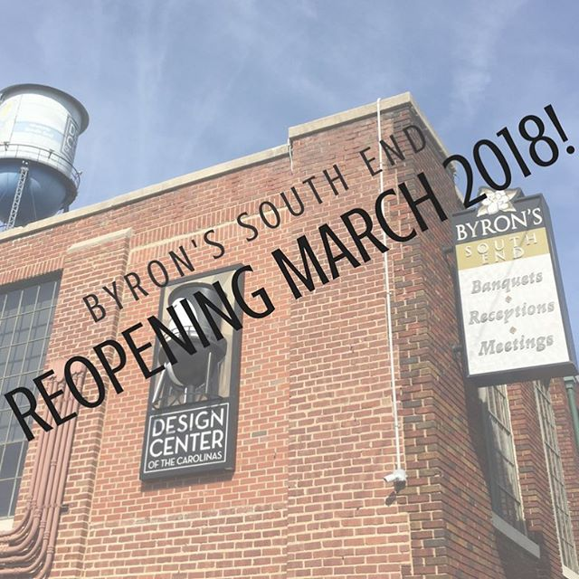 We are less than one month away from our reopening! We can't wait to share the new and improved Byron's South End ✨ Stay tuned for sneak peeks!