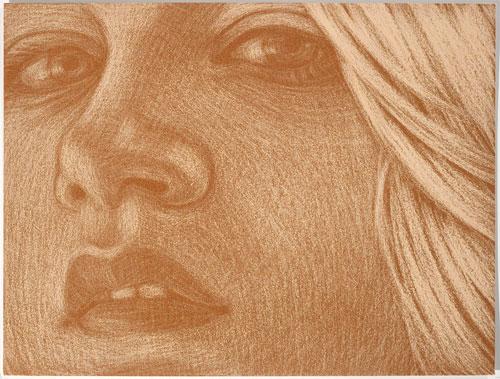 Amy Adler  Runaway II (2010) Pastel on paper Framed: 28.7 x 36.7 cm (11.3 x 14.45 in)