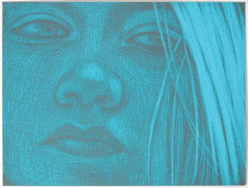 Amy Adler Runaway V (2010) Pastel on paper Framed: 28.7 x 36.7 cm (11.3 x 14.45 in)