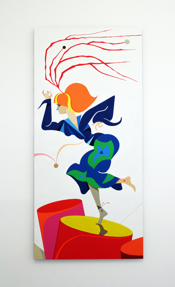Lothar Hempel  Sambadroma  (2010) Acrylic on aluminium 150 x 70 cm (59,05 x 27,56 in) unique