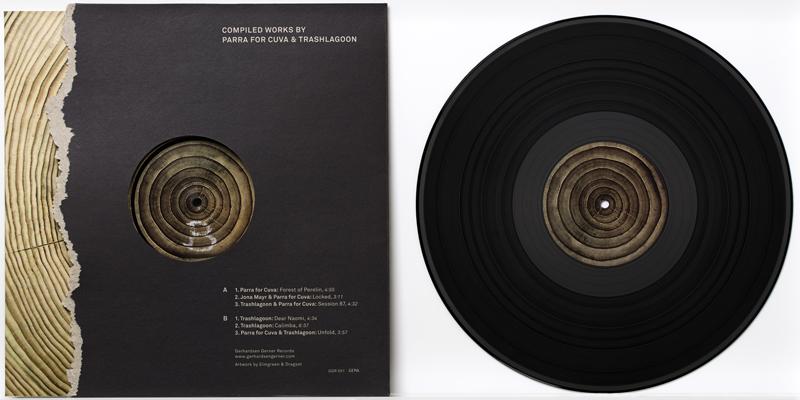 Parra for Cuva, Trashlagoon, Elmgreen & Dragset Compiled Works By Parra for Cuva & Trashlagoon (2015) Vinyl record, paper cover 31,3 x 30,5 cm, Ed. of 400
