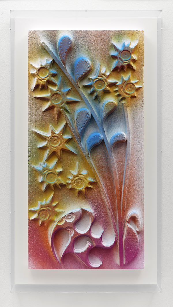 Andreas Slominski  xyz nature vol. 643 (2011) Polystyrene, acrylic paint approx. 100 x 60 x 8 cm / 114.5 x 62 x 13 cm framed