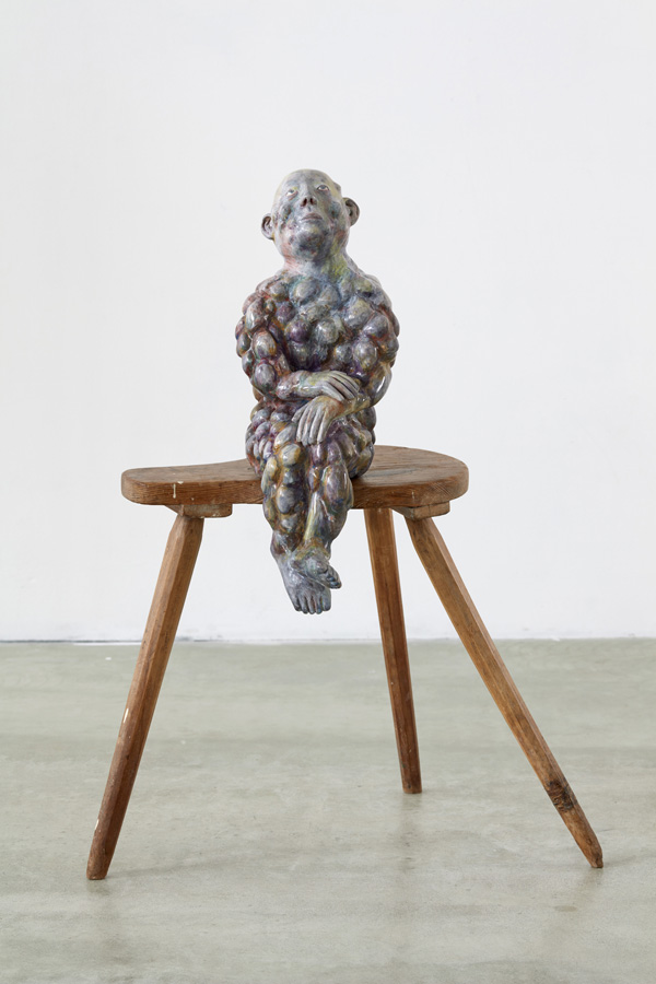 Paloma Varga Weisz Bump man (2016) Carved lime wood, chalk, glue, pigments (polished) approx. 65 x 24 x 36 cm Variation 1 of 3 + 1 AP