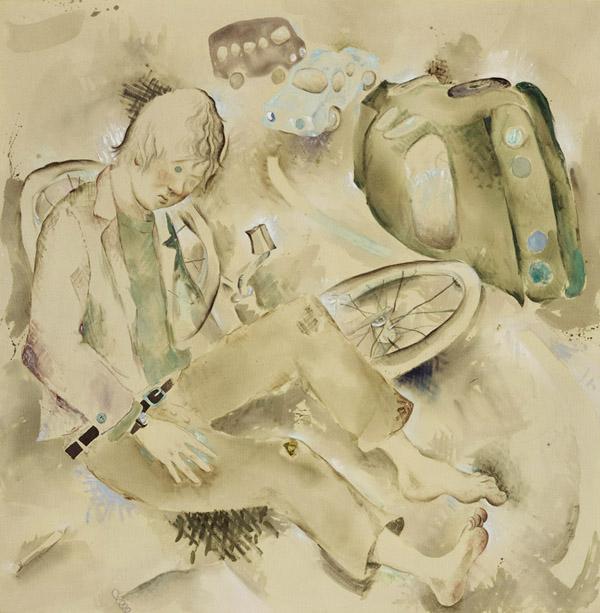 Edgar Bryan  The Tourist (2005) Acrylic and oil on canvas 154,9 x 165,1 cm (61' x 65')