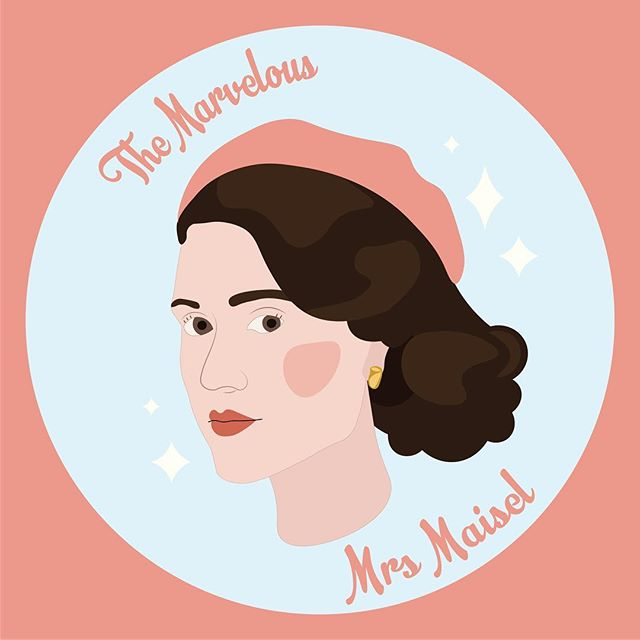 Okay if you haven't seen The Marvellous Mrs. Maisel, you GOTTA, it's hilarious, it's, sweet, the colours and costumes are scrumptious, and so ya, I love it and so does my mom. And, here's some corny fan art because I need illustrating practice. . . . . . . . . . #mrsmaisel  #themarvelousmrsmaisel #marvelousmrsmaisel #fanart #mrsmaiselfanart #themarvelousmrsmaiselfanart #illustration #drawing #behance #flatdesign