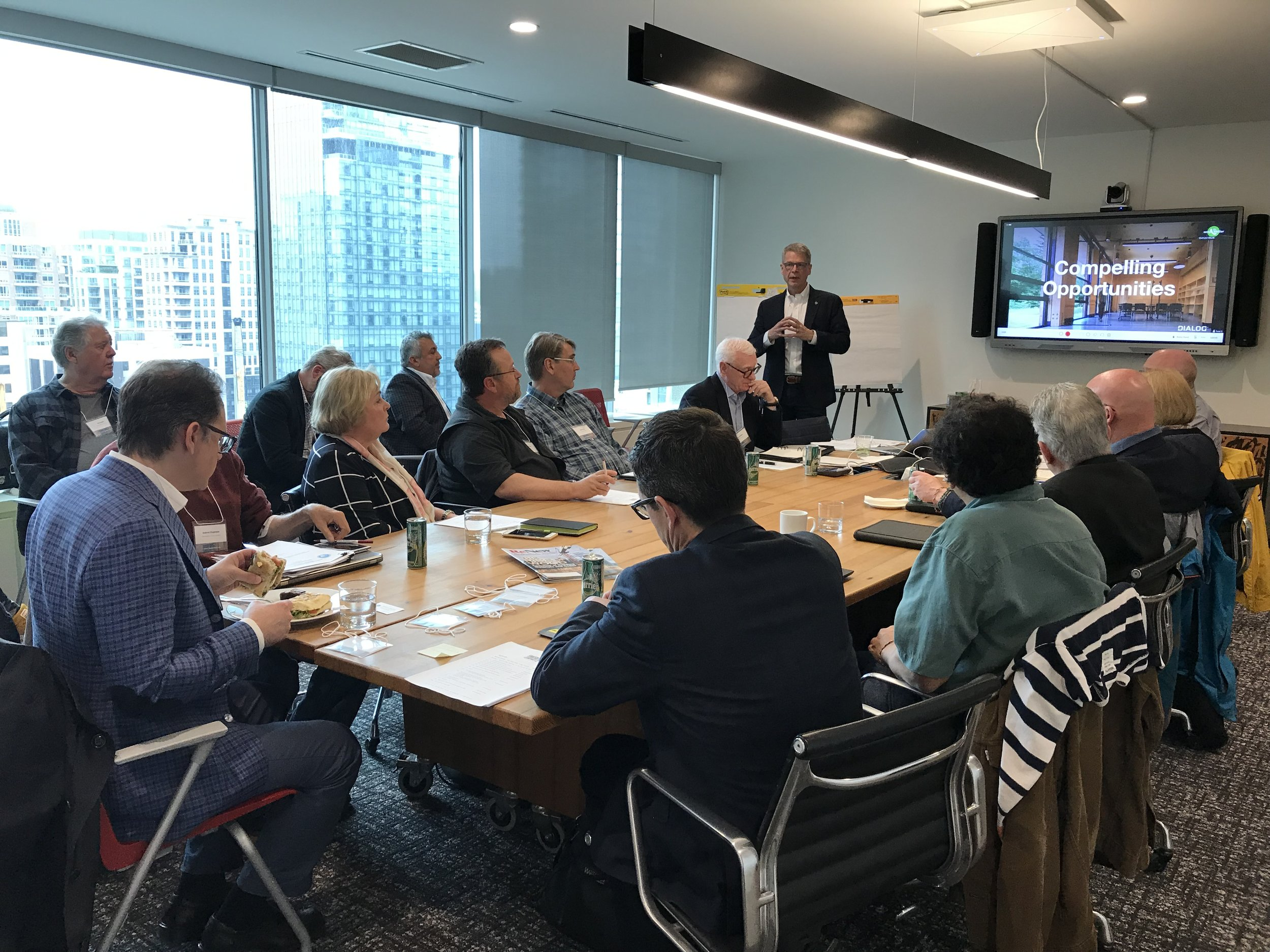 MTI Photo/Taha Syed: DIALOG Founding Partner  Craig Applegath delivering opening remarks at the Mass Timber Institute Strategy Workshop. (4 June 2019)